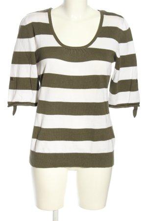 Best Connections Maglietta a righe bianco-marrone motivo a righe stile casual