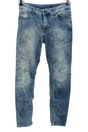 Best Connections Jeans cigarette bleu moucheté style décontracté