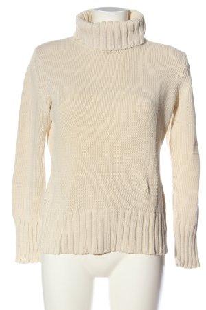 Best Connections Sweter z golfem w kolorze białej wełny W stylu casual