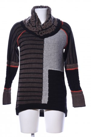 Best Connections Turtleneck Sweater mixed pattern business style