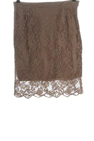 Best Connections Falda de encaje marrón look casual