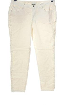 Best Connections Jeansy z prostymi nogawkami w kolorze białej wełny