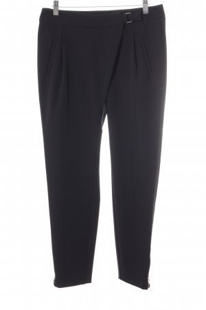 Best Connections Stretchhose schwarz-silberfarben Business-Look