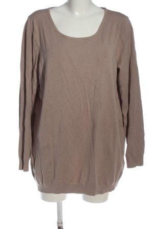 Best Connections Sweter z dzianiny khaki Melanżowy W stylu casual