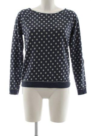 Best Connections Sweatshirt blau-weiß Allover-Druck Casual-Look