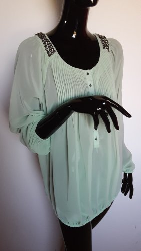 Best Connections Transparent Blouse pale green