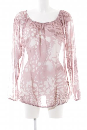 Best Connections Transparenz-Bluse pink-wollweiß Allover-Druck Casual-Look