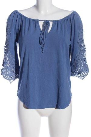 Best Connections Boatneck Shirt blue elegant