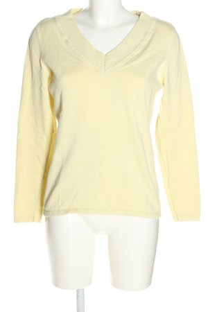 Best Connections V-Ausschnitt-Pullover blassgelb Casual-Look