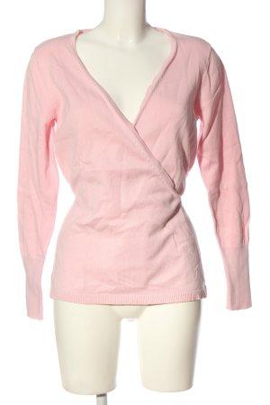 Best Connections Maglione con scollo a V rosa stile casual