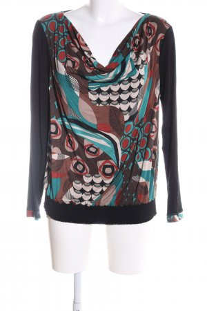 Best Connections Cowl-Neck Shirt abstract pattern casual look