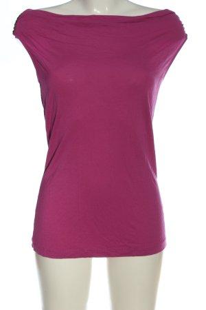 Best Connections Koszulka z dekoltem woda różowy W stylu casual