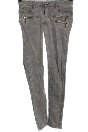 Best emilie Jeans da motociclista grigio chiaro stile casual