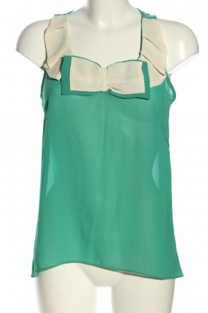 Best emilie Blouse topje groen-wolwit casual uitstraling