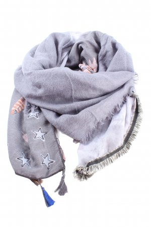 Best emilie Fringed Scarf light grey themed print casual look