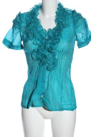 Best emilie Blouse-chemisier turquoise élégant