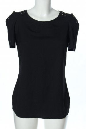 Best emilie Camicetta a maniche corte nero stile casual