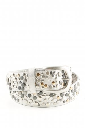 Best emilie Leather Belt natural white-silver-colored party style