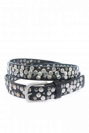Best emilie Leather Belt black-silver-colored casual look