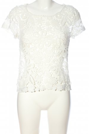 Best emilie Blusa in merletto bianco stile casual