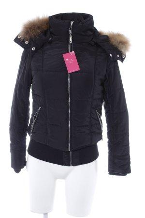 Best emilie Winter Jacket black-camel quilting pattern casual look
