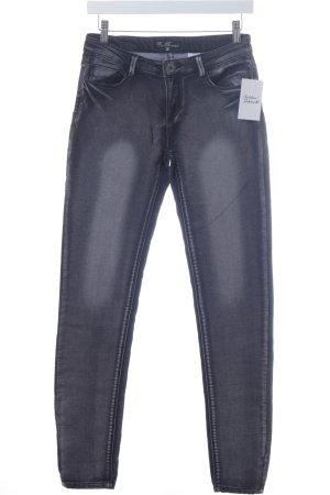 Best mountain Skinny Jeans dunkelgrau-grau Metallknöpfe