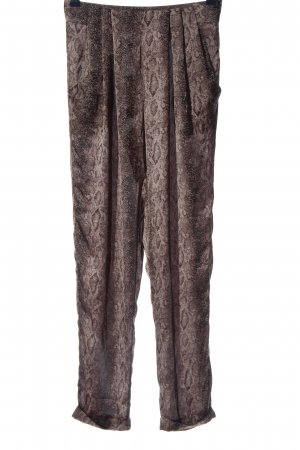 Best mountain Jersey Pants natural white-brown allover print casual look