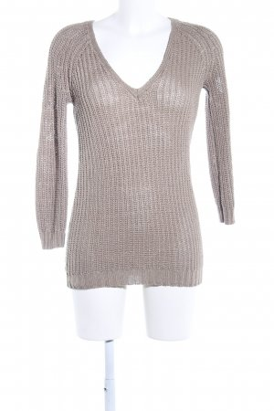 Best mountain Knitted Sweater brown cable stitch business style