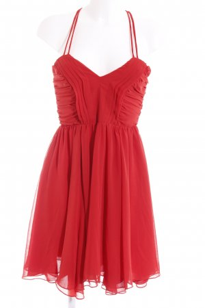 Best mountain Pinafore dress red