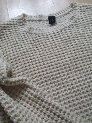 BestConnections / Pullover / kurzer Pullover / beige / Lochstrick