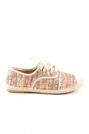 Espadrille sandalen abstract patroon casual uitstraling
