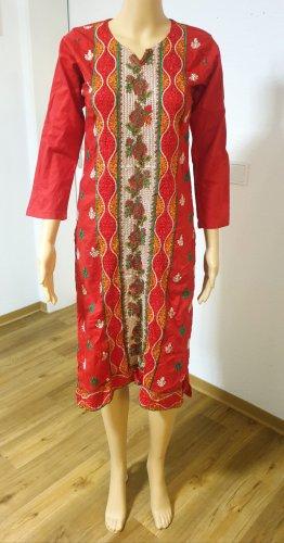 Bestickt Baumwolle Tunika für Sommer