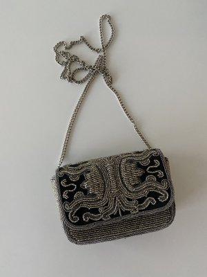 Ba&sh Torebka mini srebrny-ciemnoniebieski