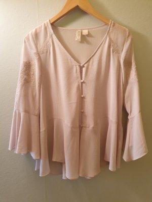 H&M Transparentna bluzka jasnobeżowy