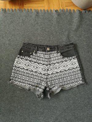 ally Denim Shorts white-grey