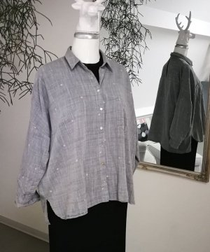 Bestickte Oversized Bluse von Zara