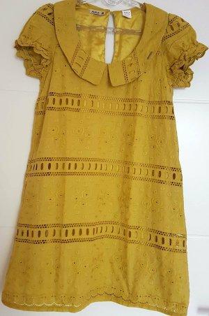 Killah A Line Dress dark yellow cotton