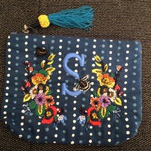 Anthropologie Mini sac bleu foncé