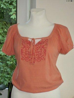 3 Suisses Top koszulowy pomarańczowy-czerwony