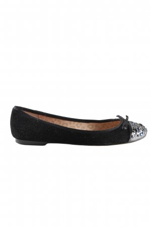 Betsey Johnson Ballerinas with Toecap black-silver-colored party style