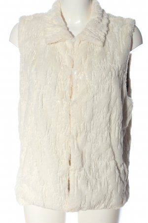 Betsey Johnson Fur vest white casual look