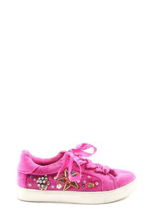 Betsey Johnson Sneaker stringata rosa stile casual