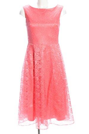 Betsey Johnson Vestido de encaje rosa elegante