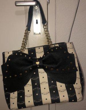 Betsey Johnson Handbag white-black