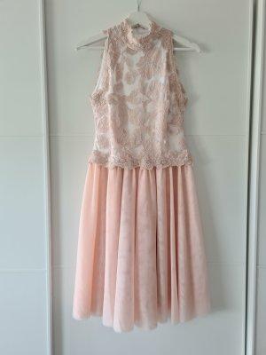 BETSY & ADAM Kleid, festlich, Spitze, apricot/rose/weiß, Tüll, Gr.38