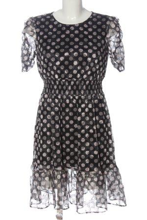 Betsy Johnson. Sukienka z krótkim rękawem jasnoszary-czarny Elegancki
