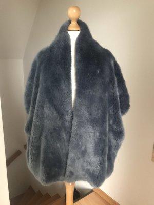 Betta Corradi Fake Fur Jacket slate-gray