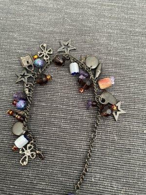 Bracelet à breloques gris anthracite