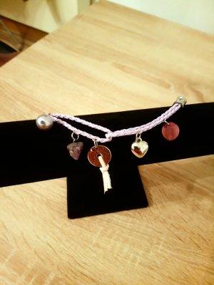 Charm Bracelet silver-colored-mauve