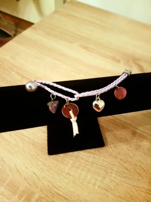Charm Bracelet silver-colored-mauve